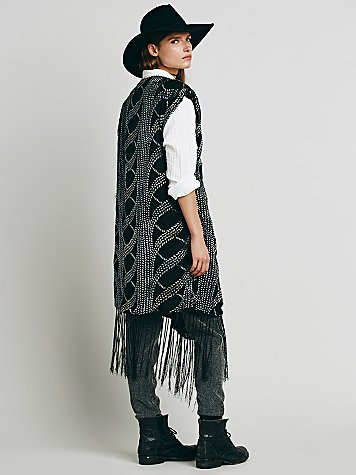 Free People Velvet Cast Away Vest
