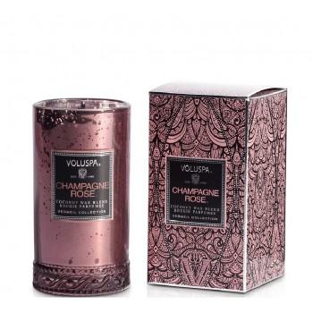 Voluspa Petite Maison Box Candle, Champagne Rose